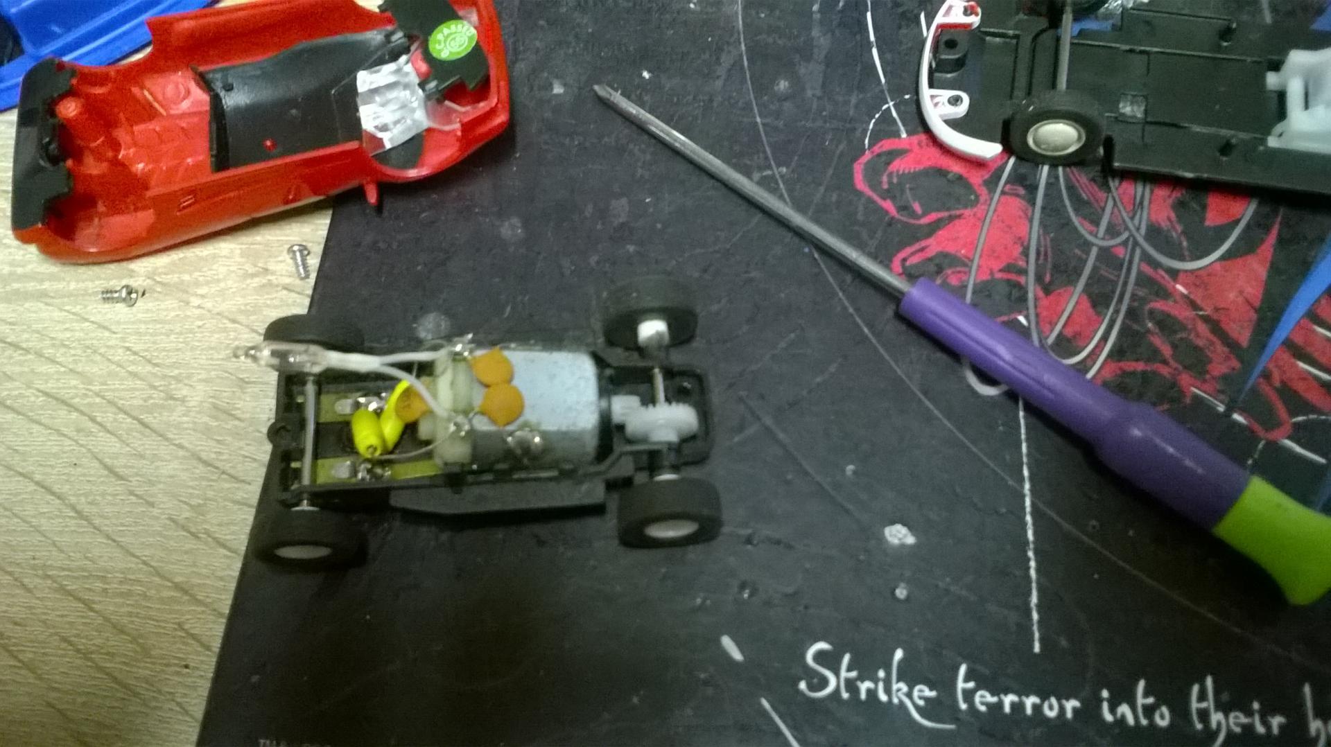 decoupe du chassis pour recuperer la trasmition