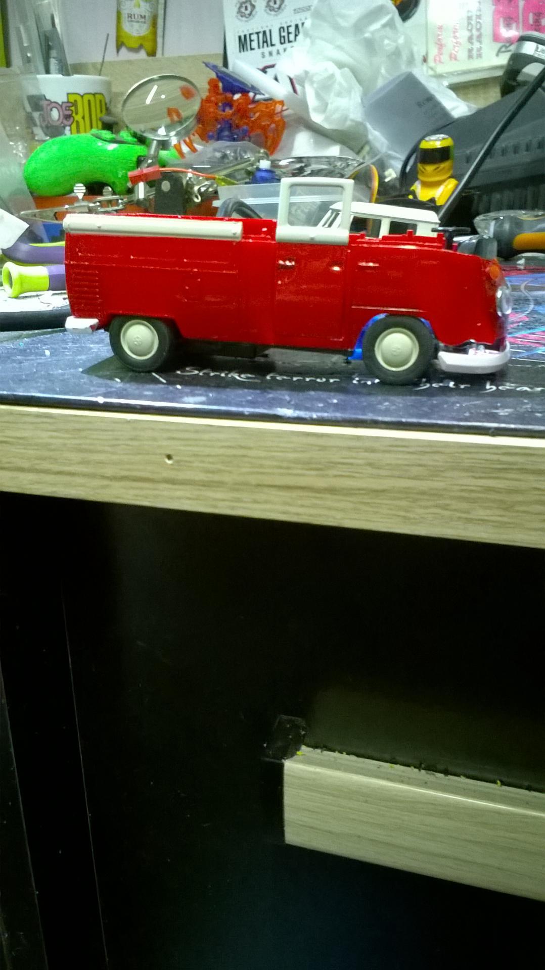 essais du chassis avec la caisse